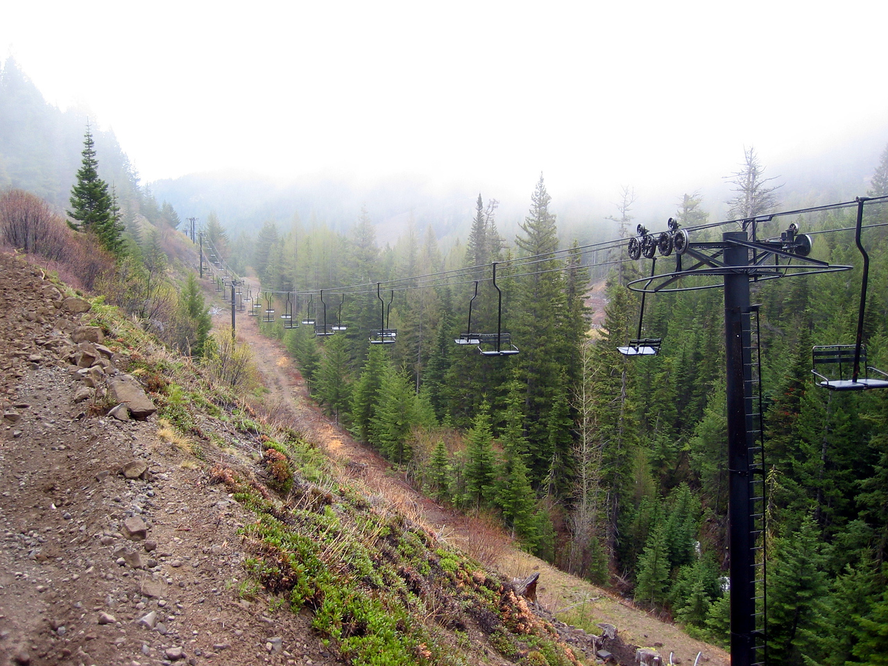 ski lift at mission ridge